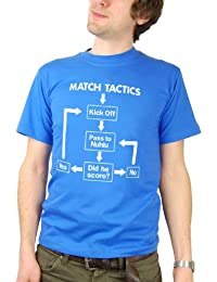 Balcony Shirts 'Match Tactics - Pass to Nuhiu' Mens Funny Football T Shirt
