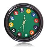 Billar De Madera Del Reloj De Pared De Cuarzo Circular