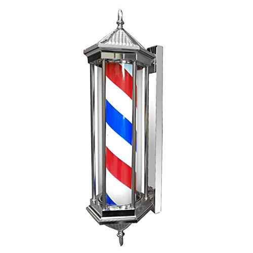 Retro Barbierstab Leuchtkugel Barber Pole Im Freien Wasserdicht LED Birne Rot, Weiß und Blau Beleuchtende Rotierende Streifen,78CM,A