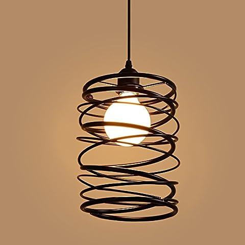 Black industriel pendaison lampe de lumière une lampe de plafond Cage fil rustique