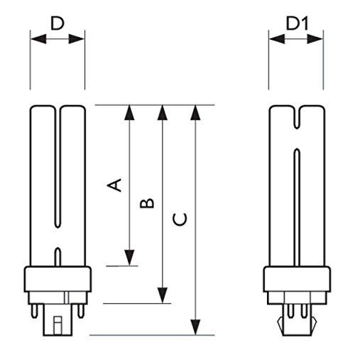 PL-C 26 Watt 827 warmweiß extra 4P G24q-3 - Philips 26W