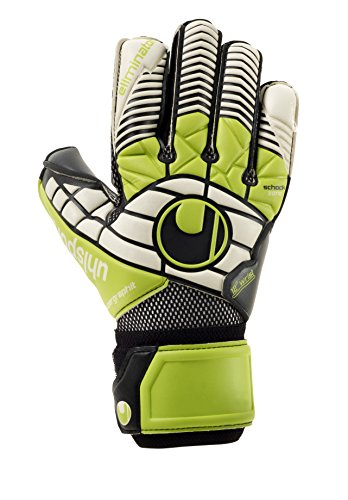 Uhlsport Guantes Eliminator Super Grafito, Color Negro/Verde/Blanco, 10.0, 100018901