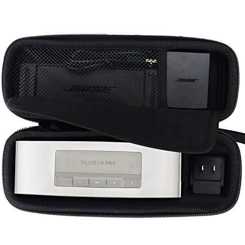 Brappo Rigide en EVA Housse de Transport Voyage Sac de Rangement pour SoundLink de Bose Mini/Mini 2 Bluetooth Haut-Parleur Portable sans Fil, Monter Le Chargeur Mural et Le Chargeur (Noir)