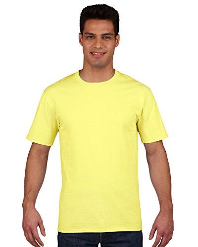 Gildan Premium T-Shirt für Männer X-Large,Cornsilk (T-shirt X-large)