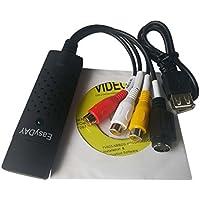 Easyday EasyCap DC60 USB 2.0 RCA AV S-Video CVBS Video Audio TV VHS DVD Capture Adapter Converter with ChipSet UTV 007 and Video Editing Software