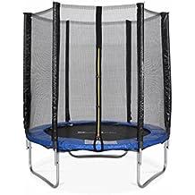 Alice's Garden - Cama elastica, Trampolin de 180 cm, Azul, altura de la red de seguridad 150 cm - Cassiope
