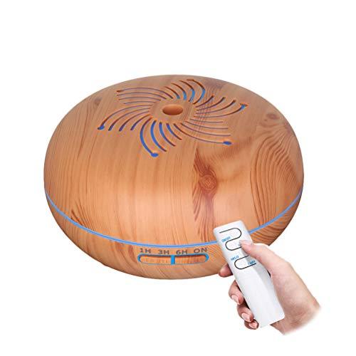 VORCOOL Humidificador ultrasónico del Aroma del humidificador 550ml Humidificador más Fresco del Aire de la luz de la Noche Colorida (Enchufe de la UE)