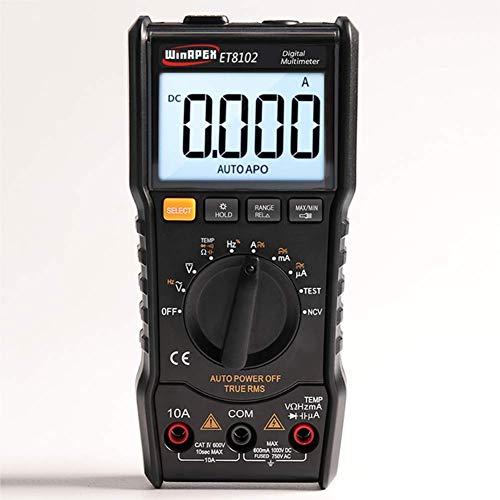 ER-JI Digital Multimeter Multifunktions Mini tragbare Handheld Multimeter Power Meter Tester,Black - Fluke Power Meter