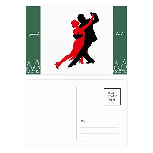 Postkarten-Set für Tänzerin, mit englischsprachiger Aufschrift, 20 Stück