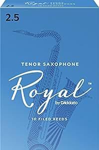 Rico Anches Rico Royal pour saxophone ténor, force 2.5, pack de 10