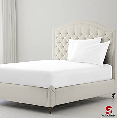 Sunshine Comforts® Cotton Rich Percale 180 Thread Count Non Iron Fitted Sheet & 2 Pillowcases Bedding Set