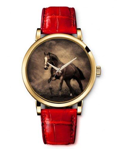 montre-femme-quartz-bracelet-cuir-cheval-de-course