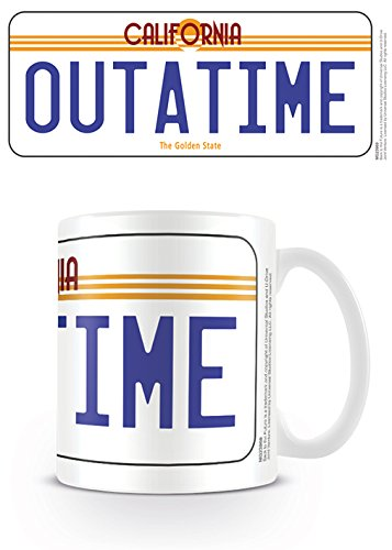 Back To The Future Outatime License Plate Ceramic Mug