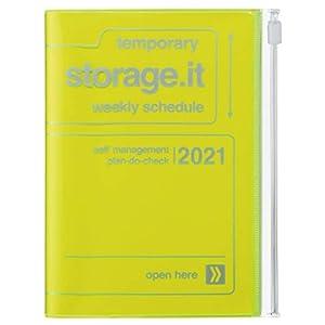MARK'S 2020/2021 Taschenkalender A6 vertikal, Storage.it Neon yellow. (Taschenbuch)