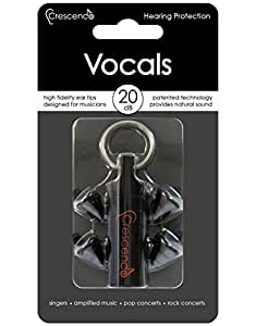 Accessoires batteries CRESCENDO SNR 17DB - VOCALS - PROTECTION AUDITIVE SPECIAL CHANT Casques et bouchons