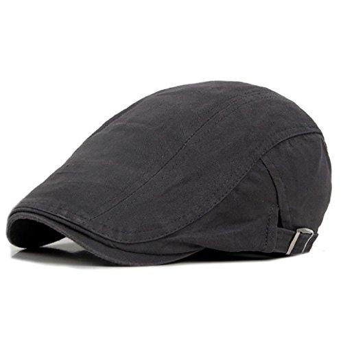 gemini-mall-mens-flat-cap-ivy-hat-solid-cotton-gatsby-cap-golf-driving-summer-sun-cabbie-newsboy-cap