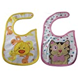 Carter's Baby Cotton Bibs For Kids Set Of 2 (Multi Colour) (6 To 36 Months Infant)