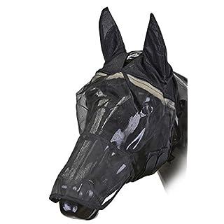Amesbichler HorseGuard Fliegenmaske mit Ohren und Maulteil schwarz   Fliegenhaube   Fliegenschutz Pferde