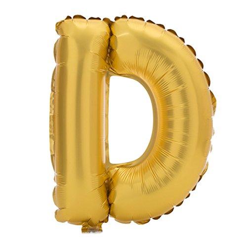 """sourcingmap 16"""" Gold Ton Folie Buchstabe D Ballon Helium Party Geburtstag Hochzeit Festival Dekor"""