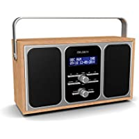 Majority Girton II - DAB+ DAB Digital & FM Portable Radio with Stereo Sound - Dual Alarm Clock - Wood Effect Finish - Mains Powered (Oak)