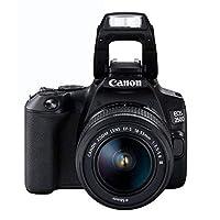 كاميرا كانون EOS رقمية، اسود - 250D 18-55