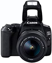 Canon EOS Digital Camera, Black - 250D 18-55