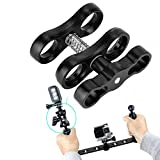 Tbest Tauchlampen Ball Butterfly Clip Arm