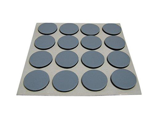 Preisvergleich Produktbild 16 x Möbelgleiter Teflongleiter Supergleiter Teflon Gleiter selbstklebend 17mm SAMWERK®