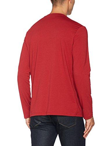 Champion Herren Long Sleeve Crewneck T-Shirt-Institutionals Rot (Cmr)
