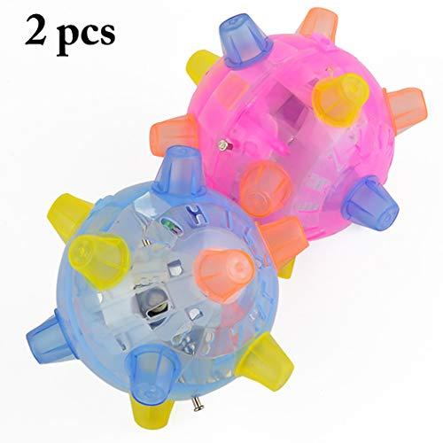 Joyibay 2PCS Juguetes para Perros Pelota para Perros Juguetes Interactivos para Pelotas Juguetes para Destellar Creativos Baile para Mascotas Juguete para Jugar