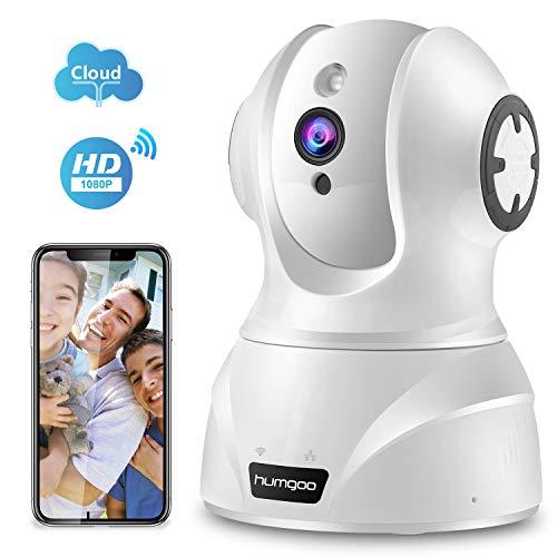 HUMGOO 1080P WLAN IP Kamera, Full HD WiFi Überwachungskamera, Home und Baby Monitor mit Bewegungserkennung, Zwei-Wege-Audio, Nachtsicht, unterstützt Fernalarm und Mobile App Kontrolle