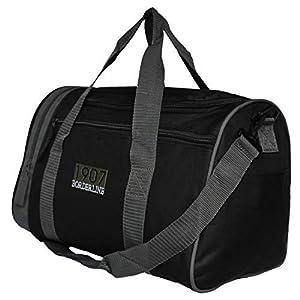 Borderline Very Small Holdall/Shoulder Bag (Black with Grey Trim)