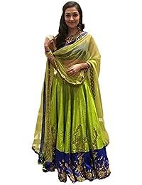 Karishma Women's Dress Material (SDM 4 [KC_49]_Free Size_Green)