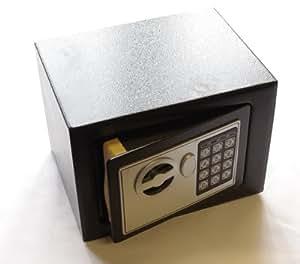 k2m tresor schwarz safe elektronischer m beltresor digital schl ssel 23x17x17cm wandtresor. Black Bedroom Furniture Sets. Home Design Ideas