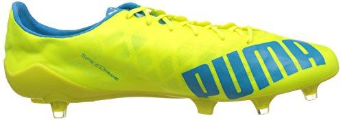 Puma - Evospeed Sl Fg, Scarpe da calcio Uomo Giallo (Gelb (safety yellow-atomic blue-white 05))