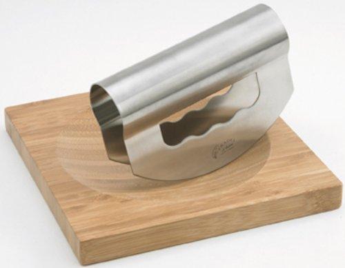 Pradel Jean Dubost 20328 - Tagliere in bambù + Mezzaluna in acciaio INOX