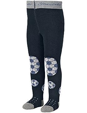 Sterntaler Krabbelstrumpfhose Fußball für Jungen, ABS-Sohle, Alter: 5-6 Monate, Größe: 74, Blau (Tintenblau)