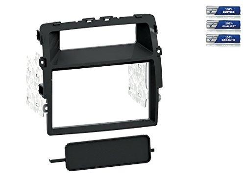 Doppel-DIN Radioblende für Nissan Primaster / Opel Vivaro / Renault Trafic *schwarz*