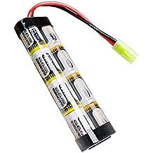 Keenstone Batería NiMH 9.6V 1600mAh paquete plano con mini conector de Tamiya montado con 16 modelos de G Wire Fit La mayoría de la serie AK de Airsoft Mini