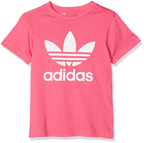 Adidas j trf, t-shirt bambino, real pink, 11/12