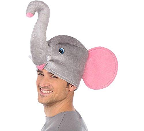 Atosa-34940 Sombrero Elefante, Color Gris (34940