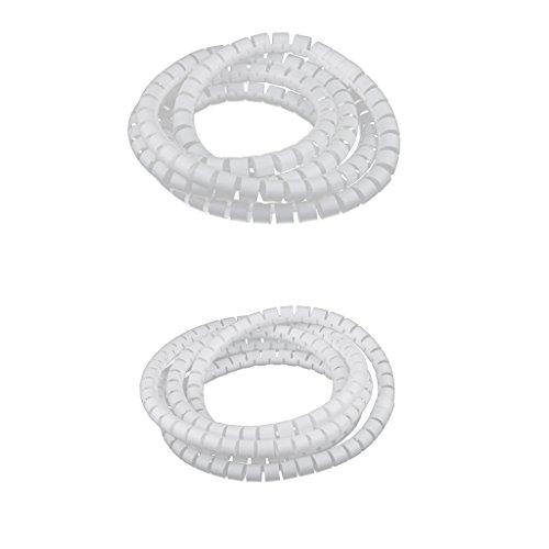 Kabel Ordentlich Draht Veranstalter Tool Pc Tv Spiral Kit Büro 10mm + 15mm Dia -