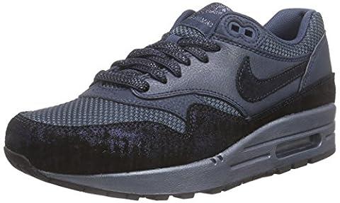 Nike Air Max 1 Premium, Running femme - Bleu - Blau (Sqdrn Bl/Mtlc Armry Nvy-Sqdrn), 38.5