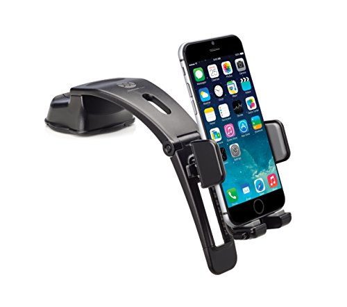 Cup Plus Iphone 6 Mount Suction (Osomount Arc 2 in 1 Extendable Arm & Dash Mount Holder for iPhone 6/6 Plus/5s/5 C/4/4s samsung galaxy S6/S5/S4/S3/Note 4/3 & Other Smartphones – BLACK)