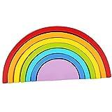 Desconocido Giochi di apprendimento di Bambini Puzzle Puzzle Forma di Arcobaleno Legno