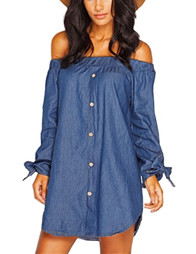 isassy-womens-classic-casual-loose-off-the-shoulder-long-sleeve-bardot-button-denim-shirt-dress-top-