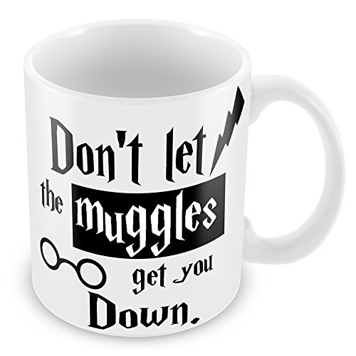 'Don' t Let The Muggles Get You Down' Tazza Harry Potter - perfetto per Secret Santa regalo di natale, regalo di compleanno, calza