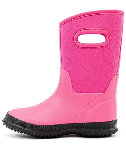 Outee Kids Toddler Neoprene Warm Snow Boots Wellies Wellingtons