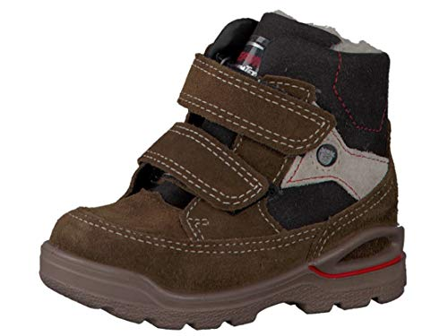 RICOSTA Pepino by Jungen Winterstiefel Jim, WMS: Weit, wasserfest, Freizeit leger Winter-Boots Outdoor-Kinderschuhe warm,Hazel/schwarz,27 EU / 9 UK -