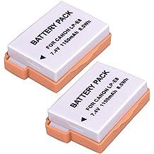 SODIAL(R) 2 Paquete LP-E8 LPE8 Bateria Equivalente a Canon EOS Rebel 550D, Rebel T2i